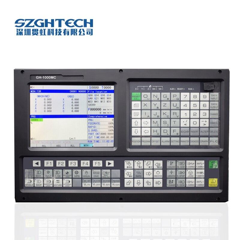 Haute Qualité GH-1000MC 3 axes cnc contrôleur de fraisage Avec ATC + PLC support USB fichier traitement, mise à niveau du logiciel de cnc contrôleur