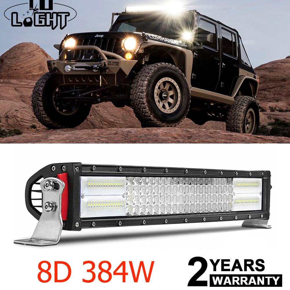 "8D 50INCH 480W LED Work Light Bar Spot Flood Offroad For Jeep ATV Truck 4X4 52/"""