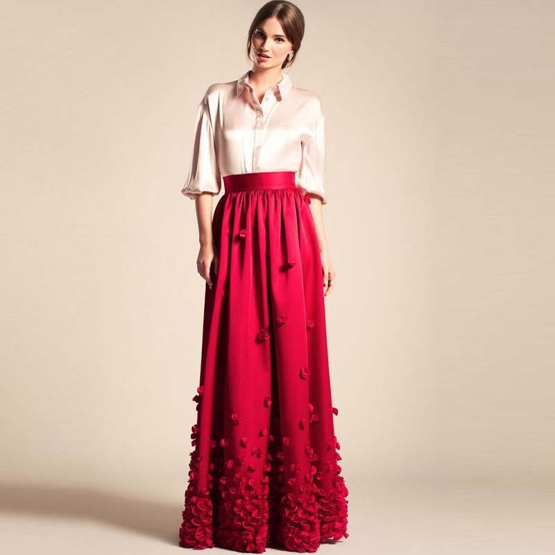 Online Buy Wholesale floral long skirt from China floral long ...
