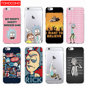 Rick And Morty Funny Cartoon Comic Meme Soft Clear Phone Case Cover Coque For iPhone 11 Pro 7 7Plus 6 6Plus 8 8PLUS X XS Max(China)