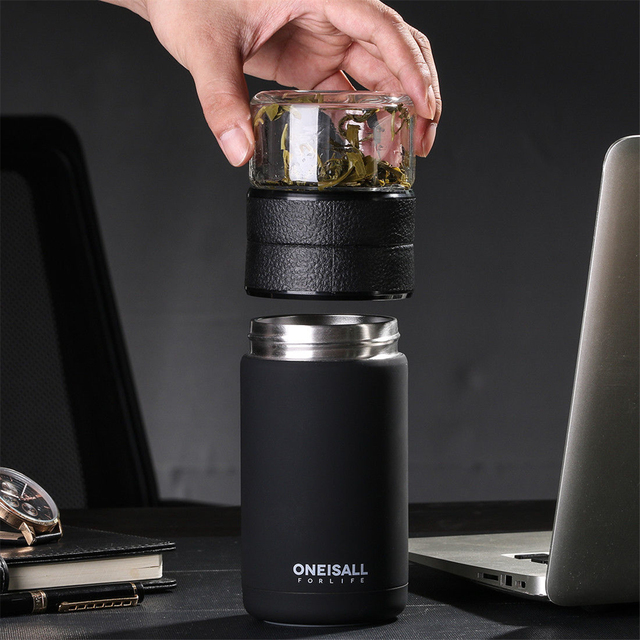 600ML botella de agua aislada aspiradora termos deporte exfoliante a prueba de fugas bebida de moda taza de té de vacío inoxidable