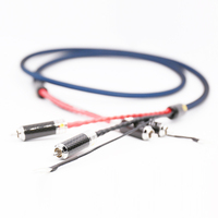 Viborg LC801 5N OFC Silver Plated Tonearm Cable Phono Cable with 2 Rhodium Plated RCA Plug to 2 Rhodium Plated RCA Plug