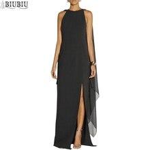 BIUBIU Chiffon Women Maxi Dress Solid O Neck Loose Batwing Sleeve Party Long Casual Queen Summer Vestido De Fiesta