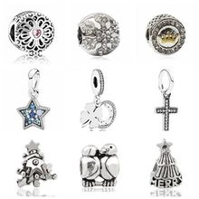 ce2381b08 New Fashion DIY Jewelry Small Peacock Stars Cross Crystal Beads Charms Fit  Pandora Bracelets & Bangles