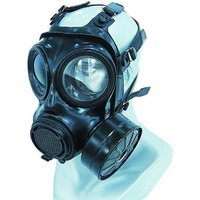 Military And Police Gas Masks Against Toxic Gases And Particulate Aerosol From The Influent Air Except