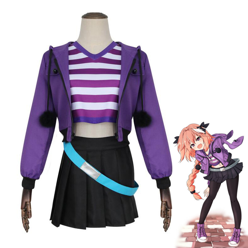 FGO Fate Grand Order Apocrypha Rider Astolfo Asutorufo Sportswear Cosplay Costume Uniform Suit Carnival Party Dress
