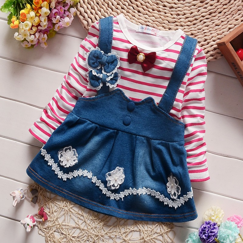 1314700c2c88 BibiCola Spring Summer Baby Girls Dress Long Sleeve Baby Girl ...