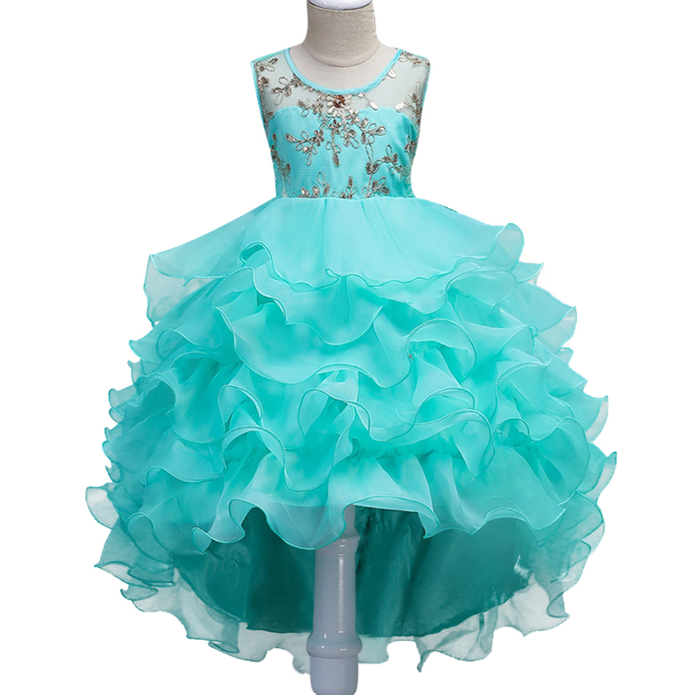 Girl party dress Christmas dress for girl 2017 summer formal girl flower gir dresses junior girls prom gown dresses baby clothes manufacturing systems modelling