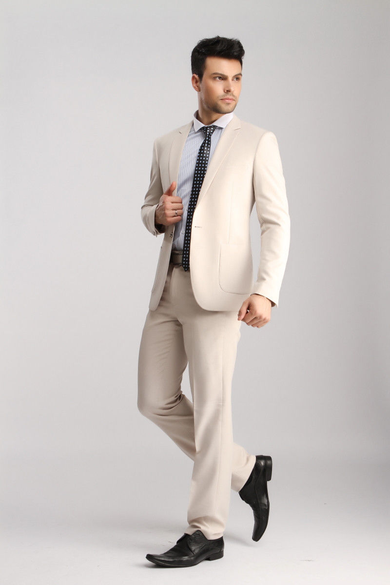 Cream And Gold Prom Suit - Go Suits