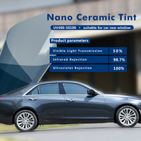 50x500cm 50%VLT Shade Automotive Window Tint High Insulation 100% UV Proof Nano Ceramic Tinting Film for Car Bulk