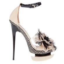2016 Été Doux De Luxe Style Best-Vente Banquet Fleur Sandales Talons hauts Peep Toe Chaussures de Femmes Avec 14 cm Hauteur