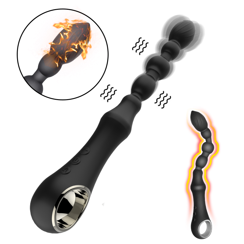 FLXUR 10 Modes Heating   Vibrator USB Rechargeable Silicone Dildo Massager Sex Toys For Men Women