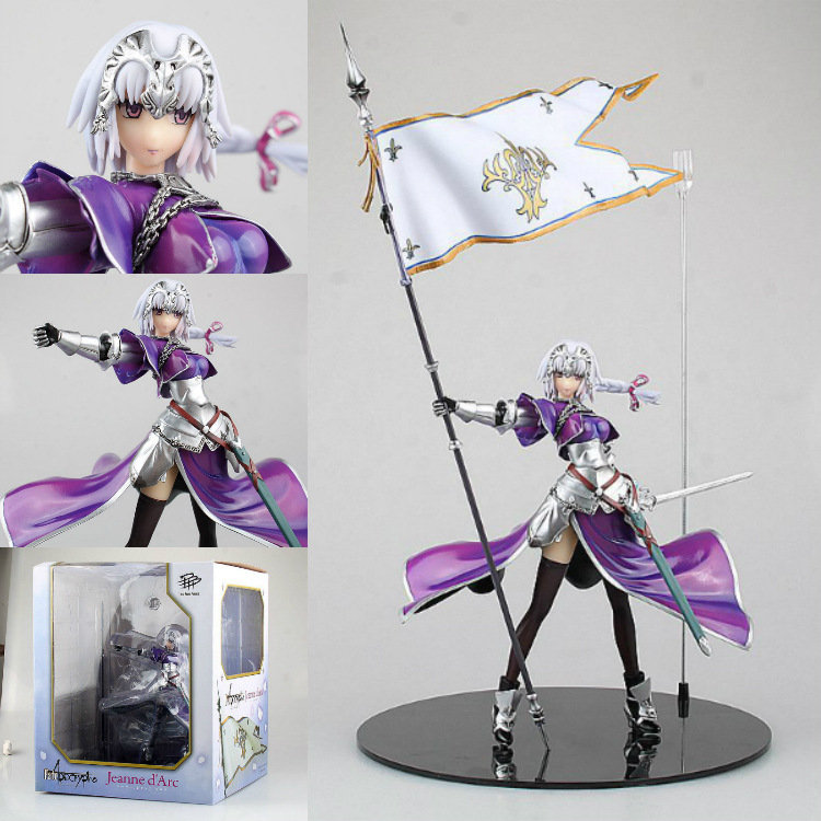 25cm Fate Stay Night Zero Saber Apocryphe Jeanned'arc Joan Of Arc with flag Japanese Anime Figures Action Toy Figures Pvc Model ynynoo anime fate stay night fate extra saber action figures anime collectible model pvc toy 9 23cm in box z247