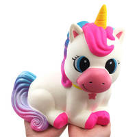 Huge Jumbo Squishy Toys Cute Super Big Unicorn Horse Slow Rising Colorful Squishies Stress Relief Toy Kids Antistress Gift