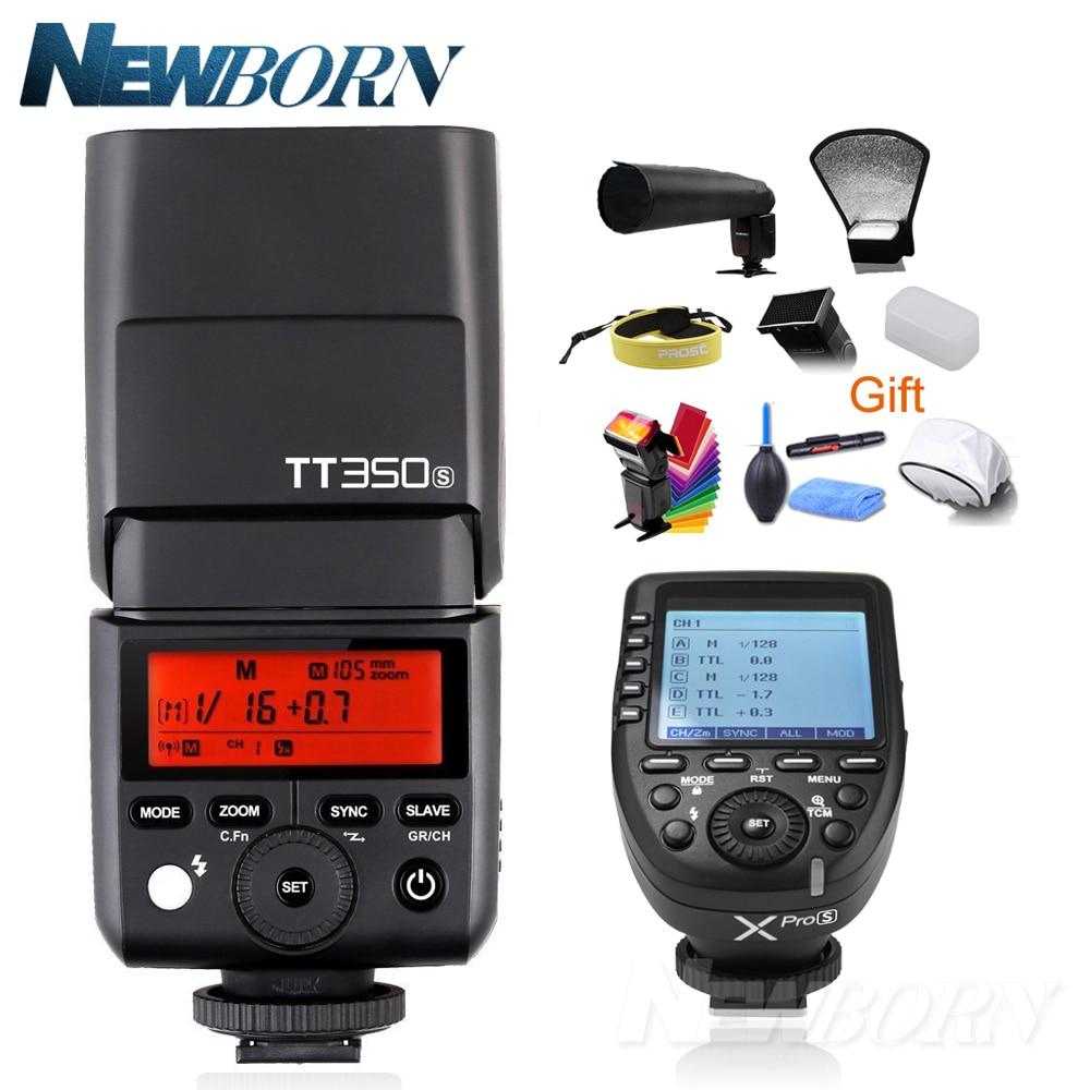 Godox Mini Speedlite TTL TT350S haute vitesse 1/8000s GN36 + 2.4G déclencheur de puissance sans fil xpro-s pour appareil photo Sony avec cadeau gratuit