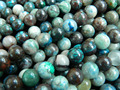 Free Shipping natural Azurite 10mm smooth round loose beads stone wholesale for jewelry design making