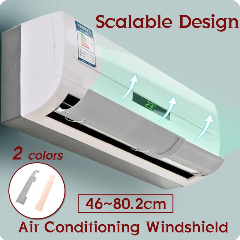 Adjustable Air Conditioner Cover Windshield Air Conditioning Baffle Shield Wind Guide Board Straight Anti-wind Deflector(China)