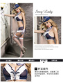 Azafata Uniformes de Juego Cosplay medias Sexy Corsé lencería sexy hot erotic lingerie Bustiers G-string Atractivo Del Vestido Más El Tamaño