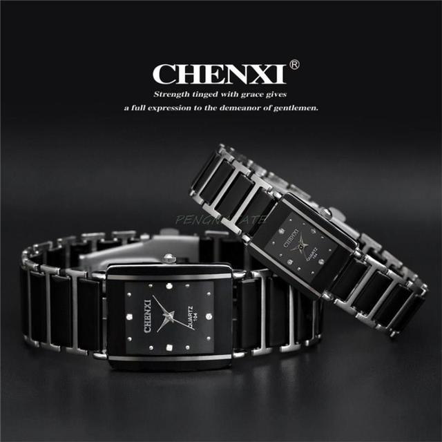 CHENXI NEW Fashion Women Watches Men Top Brand Luxury Wristwatch Man Female Quar
