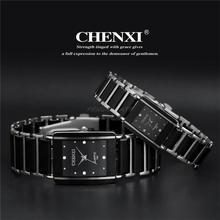 CHENXI новые модные женские туфли часы для мужчин лучший бренд класса люкс наручные часы Мужские Женские кварцевые часы керамика водонепроница…