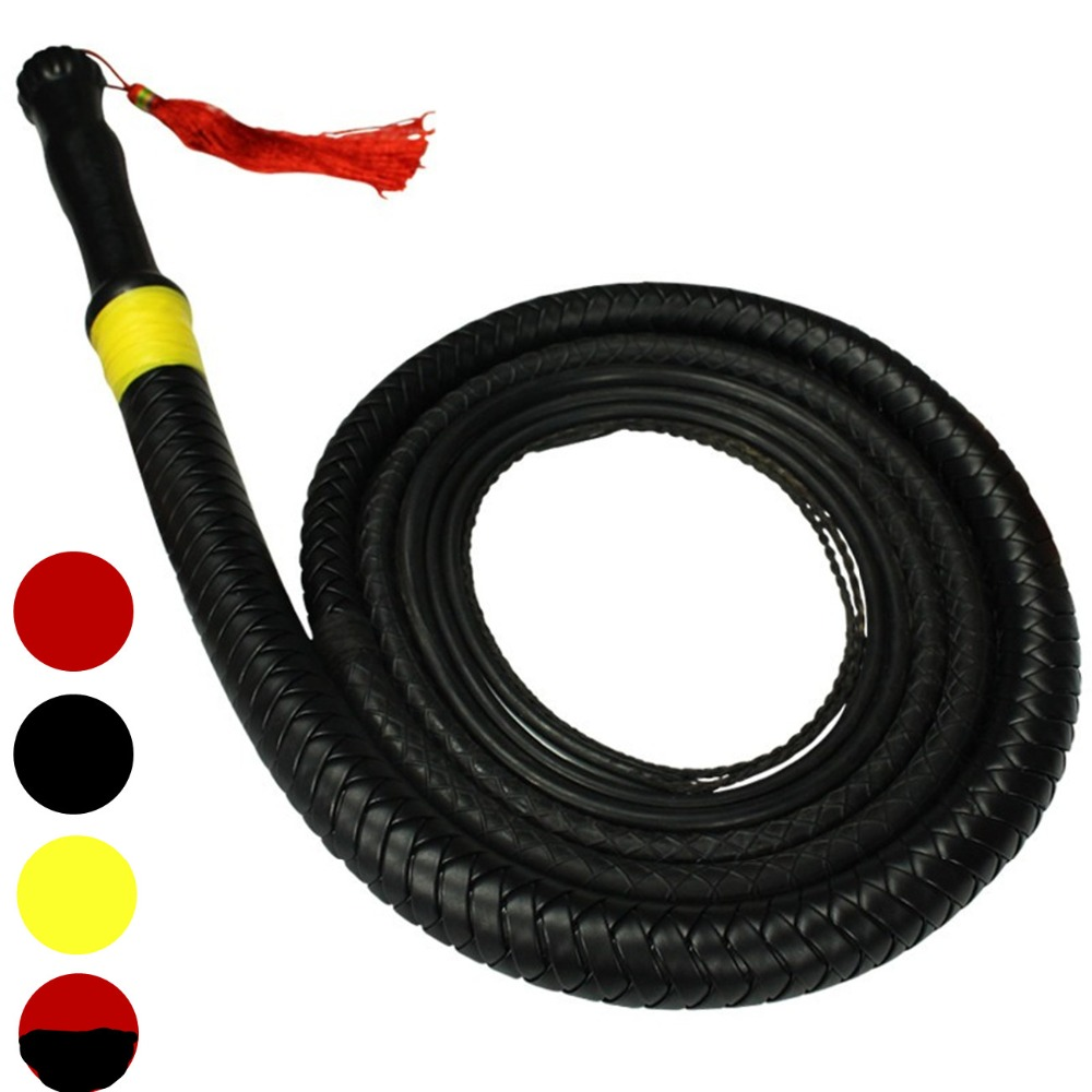 купить BDSM Slave Long PU Leather Rubber Whips Flogger In Adult Games For Couples , Fetish Erotic Sex Products Toys For Women And Men недорого