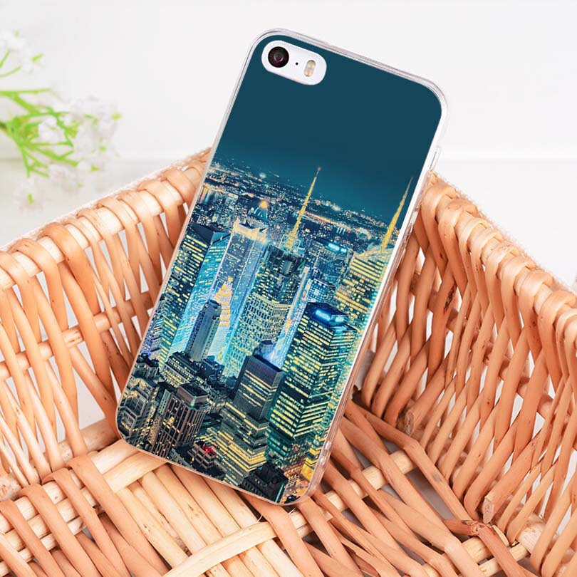 8799237e62 NYC NEW YORK City Landscape Soft Tpu Phone Case Cover For Apple Iphone 8 7 6  6S Plus X 5 5S SE 5C 4 4S ...