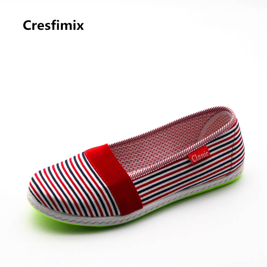 Cresfimix sapatos femininos women cute multi color flat shoes lady casual spring striped flats lady comfortable summer shoes cresfimix women cute spring
