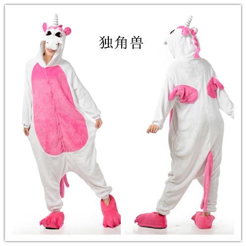Pánské dámské karikatury bílé a růžové dospělé zvířecí onesie Onsie pyžamo pyžama kombinézy C399 S / M / L / XL / XL