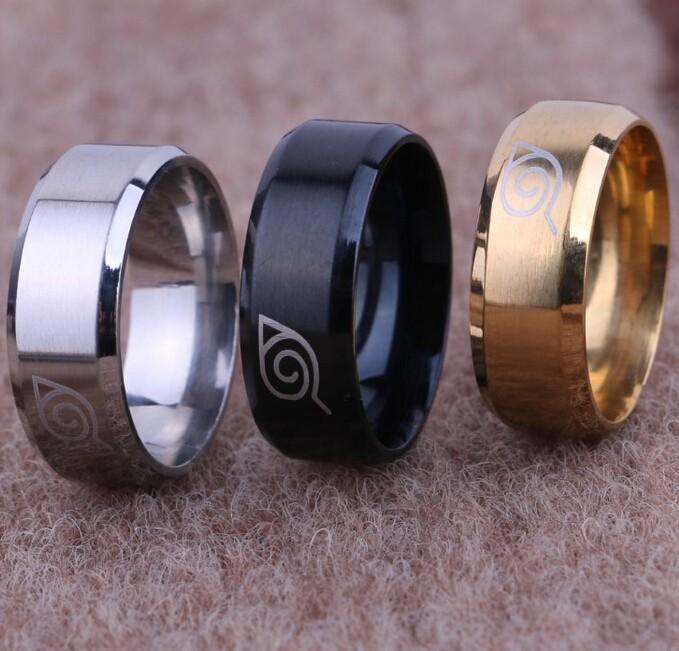 Naruto Konaha Symbol rings