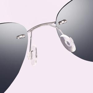 Image 4 - NALOAIN แว่นตากันแดด Polarized Mirrored UV400 เลนส์ไทเทเนียมกรอบ Rimless น้ำหนักเบาสำหรับผู้ชายผู้หญิงขับรถตกปลา