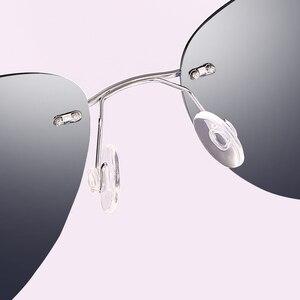 Image 4 - Naloain óculos de sol polarizado, óculos de sol espelhado e sem aro de titânio com lente uv400, espelhado, leve para homens e mulheres, para dirigir e pescar