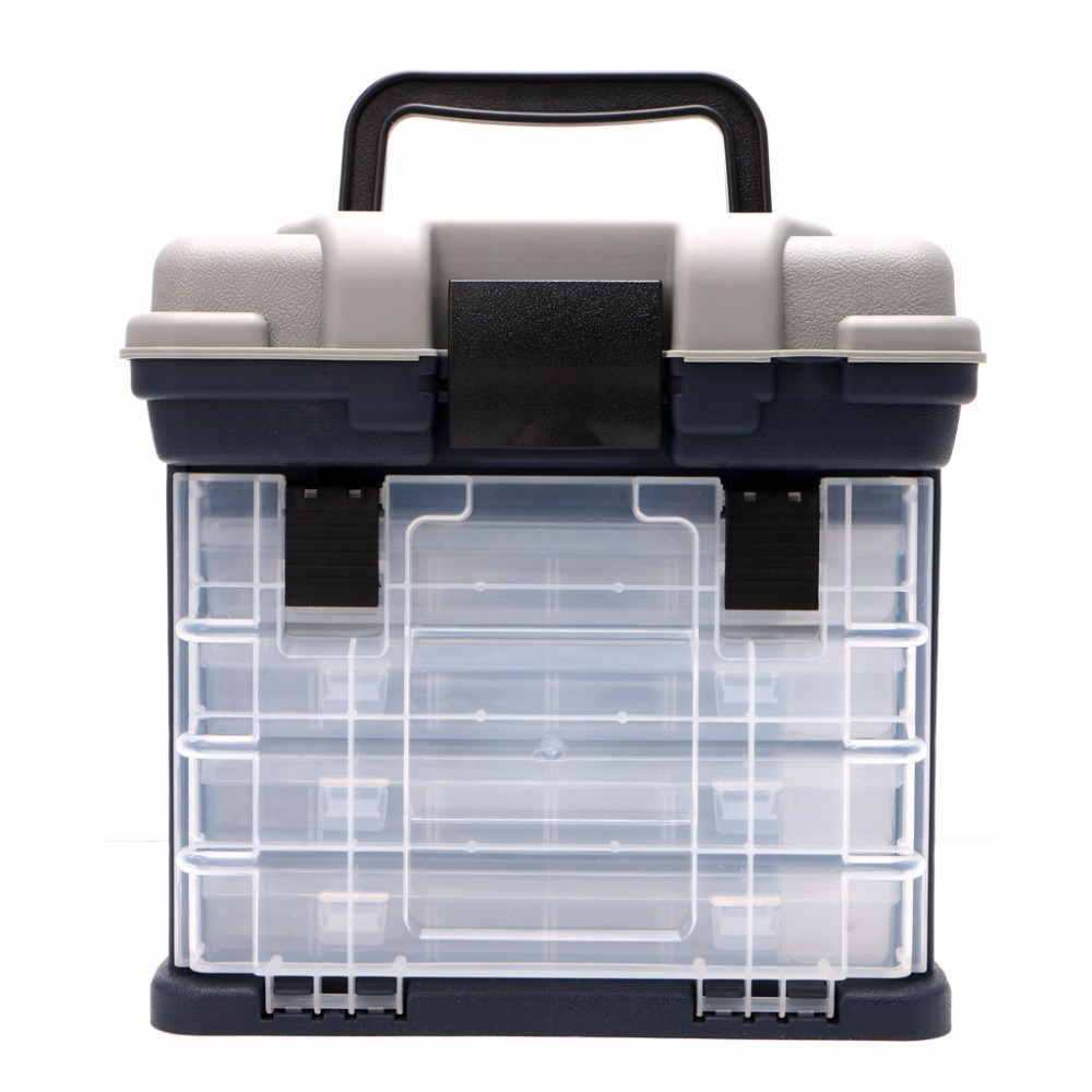 5 Layer Fishing Tackle Box Plastic Handle Fishing Boxes