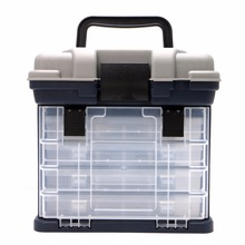 5 Layer Fishing Tackle Box Plastic Handle Fishing Boxes Carp Fishing Tools