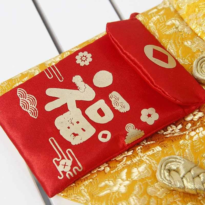 Untuk Anak Anjing Peliharaan Kucing Tahun Baru Jubah Tradisional Cina Pakaian Syal Musim Dingin Tahun Baru Kostum Gaun Festival Aksesoris
