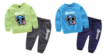 Newest Spring Baby Boys clothes set cartoon Man Suits Infant Clothing Set Kids T Shirt+Pants 2Pcs Sets Children Suits  for 3-9T