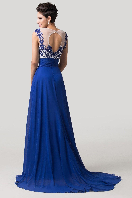 Baguettes dentelle bleu Royal robe de soirée 2016 formelle Occasion robe  robe pas cher longue robe de bal pour parti porter 6147 dans Robes de  soirée de