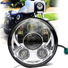 DOT SAE E9 approved 5-3/4 Inch 45W Daymaker Projector LED Headlight for Harley Davidson Motorcycles