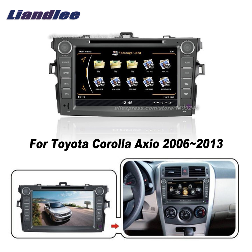 US $275 1 16% OFF|Liandlee For Toyota Corolla Axio 2006~2013 Car Android  Radio CD DVD Player GPS NAVI Maps HD Touch Stereo Media TV Multimedia-in