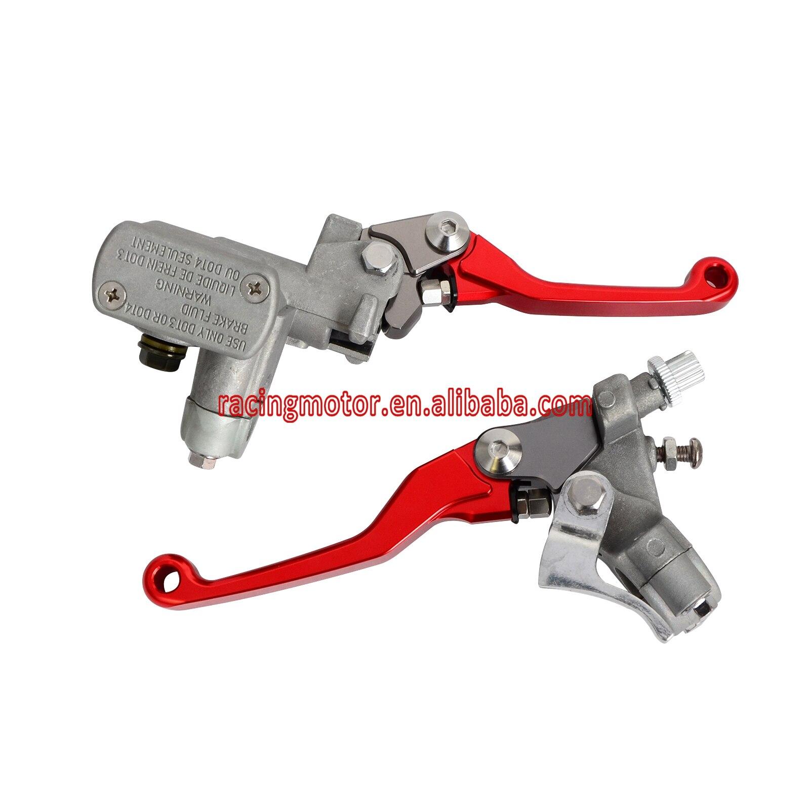 Red Brake Clutch Master Cylinder Lever For Honda CR125R CR250R CR500R CRF150R CRF250R CRF250X CRF450R CRF450X