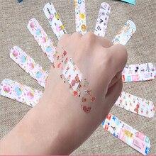 100 шт водонепроницаемый дышащий милый мультяшный браслет для помощи гемостазу клейкие повязки для первой помощи аварийный набор для детей Vendaje