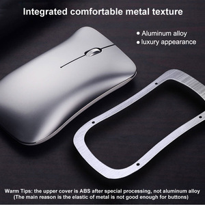 Image 3 - Do Dower Dual Mode Aluminum Alloy Wireless 2.4G+Bluetooth 4.0 Mouse Ultra thin Recharge Portable High Class Optical Mice for Mac