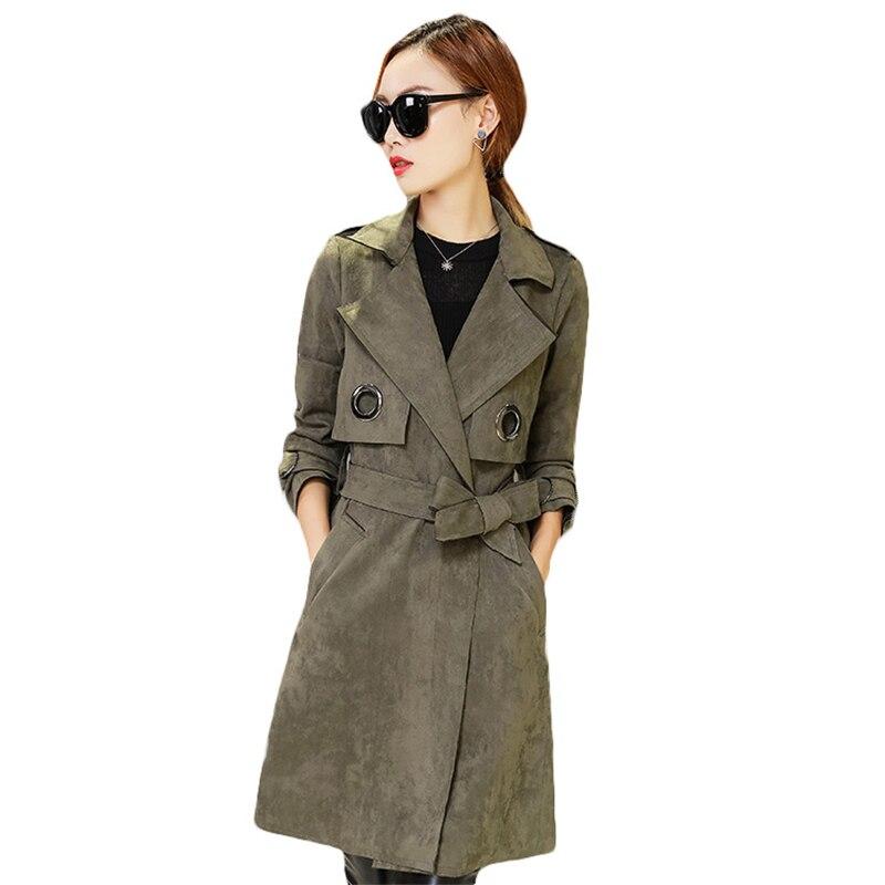 2018 New Temperament Spring Autumn Slim Suede Jacket Women Fashion