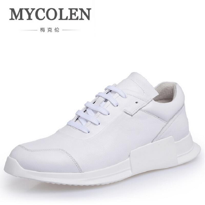 MYCOLEN Casual Shoes Men Fashion High Top Black Leather Shoes Winter 2017 Adults Male Luxury Superstar Shoes Zapatillas Hombre casual dancing sneakers hip hop shoes high top casual shoes men patent leather flat shoes zapatillas deportivas hombre 61