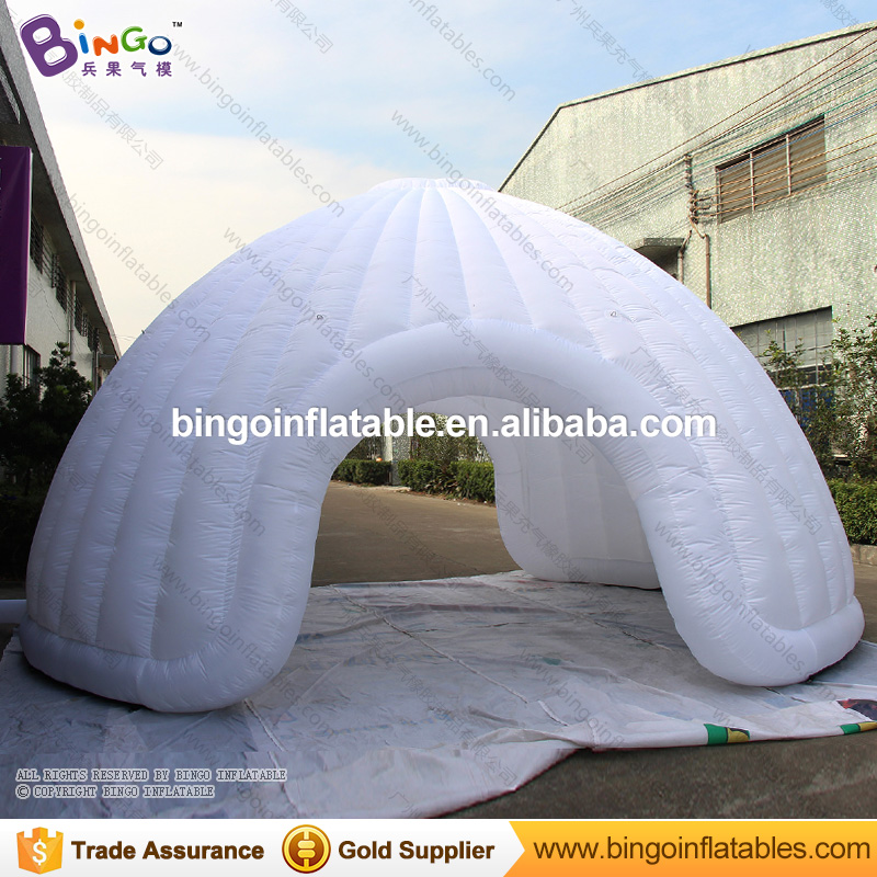 Free Shipping white Inflatable igloo dome shelter Tent high quality blow up tent with 2 doors for exhibition toy tents factory direct sale 6x6x3 5 m inflatable dome igloo tent for outdoor event high quality blow up all white yurt tent toy tent