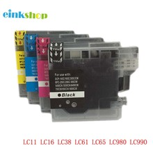 1Set Ink Cartridge LC39 LC985 LC60 LC975 for Brother DCP J125 J315W J515W MFC J415W J615 J615W DCP-535CN printer