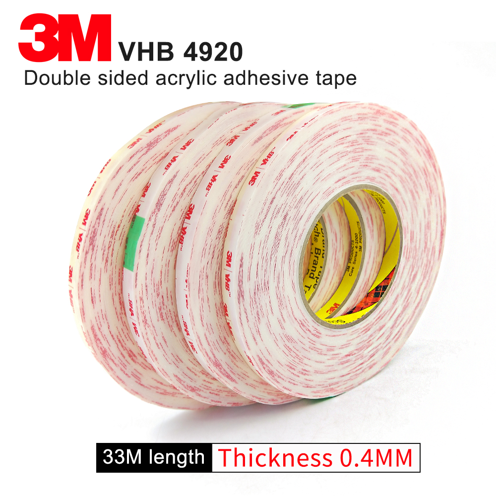 100% Original 3M 4920 VHB acrylic adhesive foam tape/3M mylar tape/ can use in outdoor or indoor/ 25.4mm*33m (1 in*36yd)*5rolls100% Original 3M 4920 VHB acrylic adhesive foam tape/3M mylar tape/ can use in outdoor or indoor/ 25.4mm*33m (1 in*36yd)*5rolls