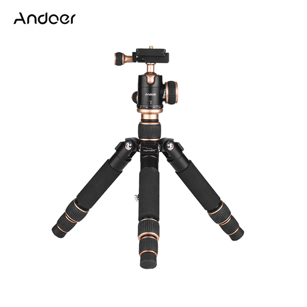 Andoer Gorillapod Travel Portable Mini Tabletop Tripod With Ball Head Quick Release Plate For Canon DSLR Camera Smartphone DV