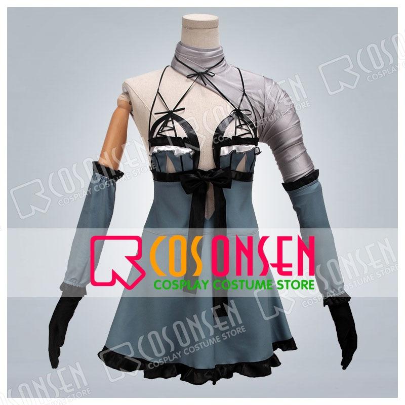 Cosonsen NieR Automata 9S YoRHa No.9 Type S Cosplay Costume With Glove Halloween