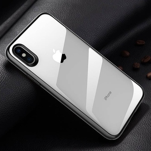 Image 5 - Original Xiaomi Phone Case For iPhone X XR XS Max 8 7 Plus Transparent TPU PC Shell Bag Shockproof Colorful Frame Back Cover