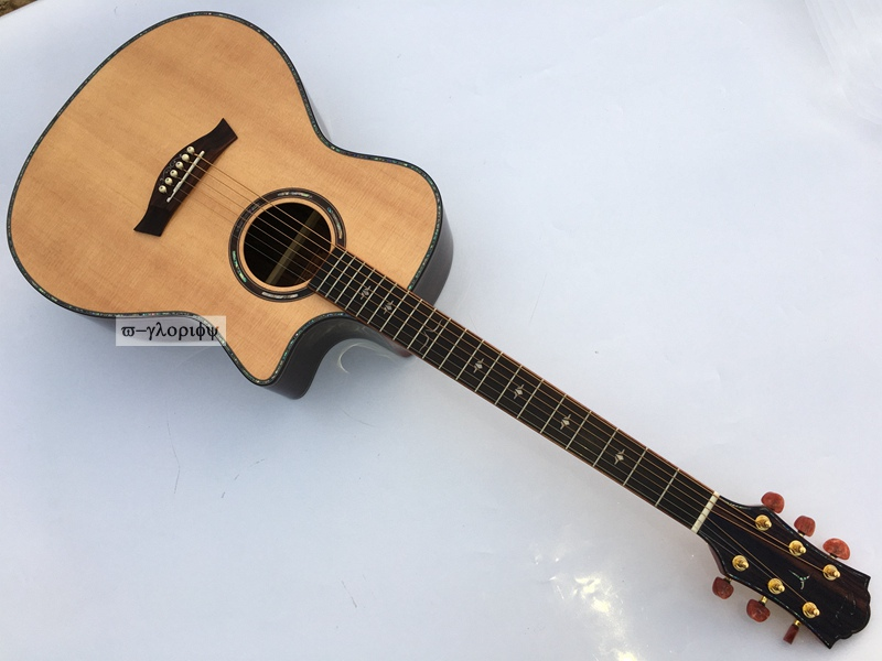 high grade solid top acoustic guitar Ranch guitar